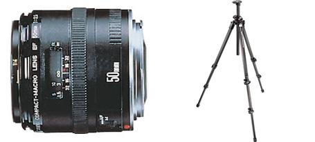Canon50mmlens.manfrottotripod