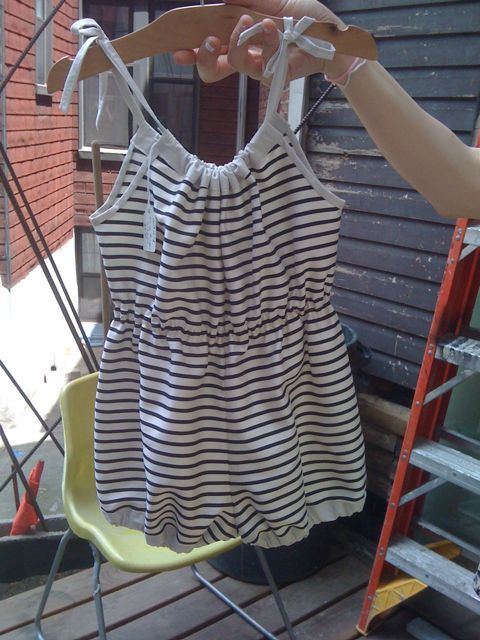 Wolfechild striped romper