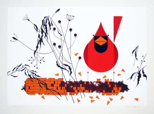 Cardinal on Corn_500