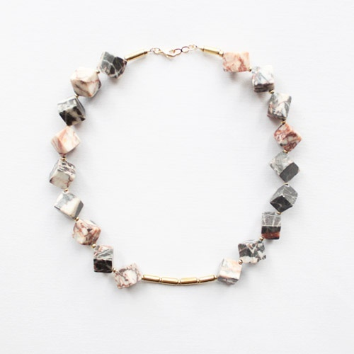 Marble-and-brass-necklace