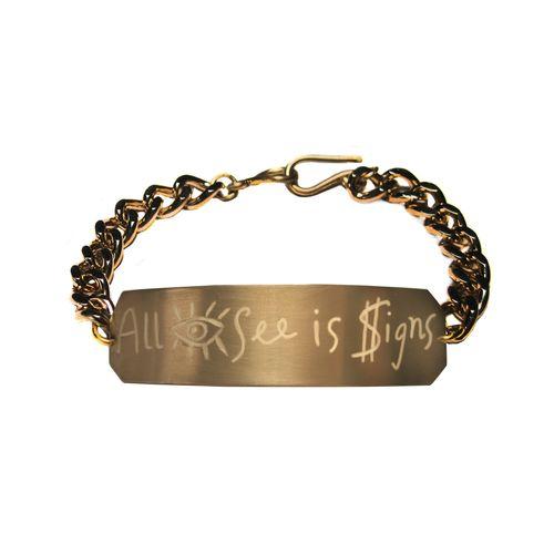 16898 all eye see is $igns bracelet
