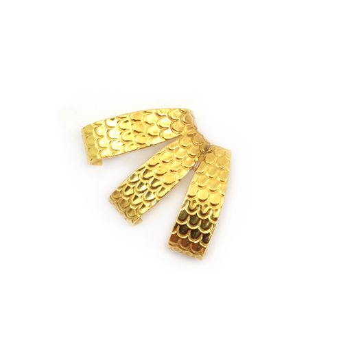 Triple-scale-wrap-earrings-gold
