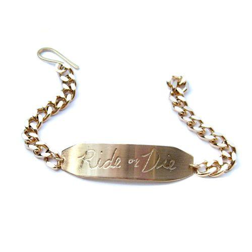 Ride or die id bracelet