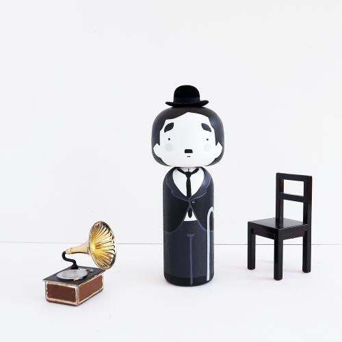 Charlie-chaplin-kokeshi-wood-figure-becky-kemp