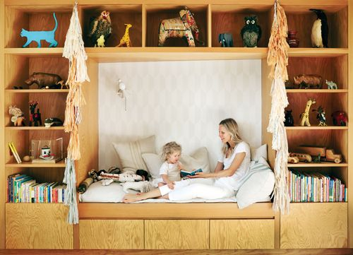 7-Le-Fashion-Blog-Fashionable-Home-Jessica-De-Ruiter-Mid-Century-Modern-Silver-Lake-Built-In-Kids-Bed-Via-C-Home