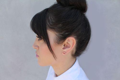 Opal+ear+studs+model+shot